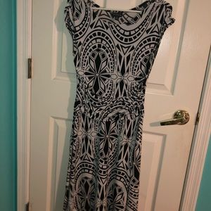 Adult black and white dress